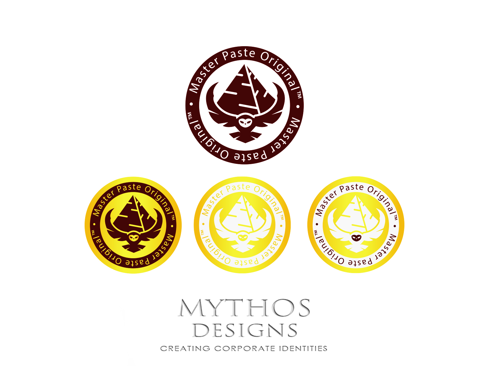Logo Design by Mythos Designs - Entry No. 69 in the Logo Design Contest Unique Logo Design Wanted for Master Paste Original™.