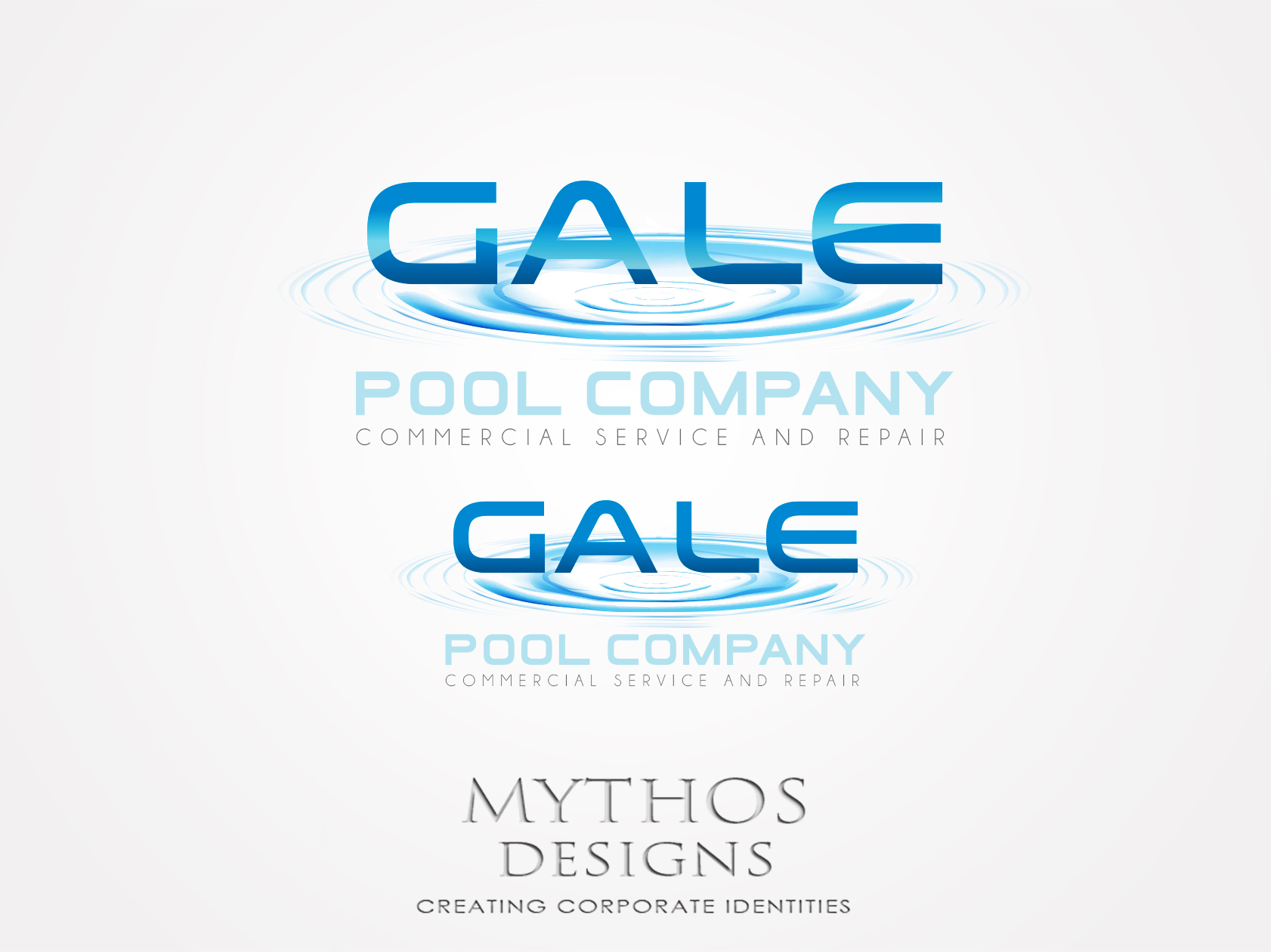 Logo Design by Mythos Designs - Entry No. 156 in the Logo Design Contest Imaginative Logo Design for Gale Pool Company.