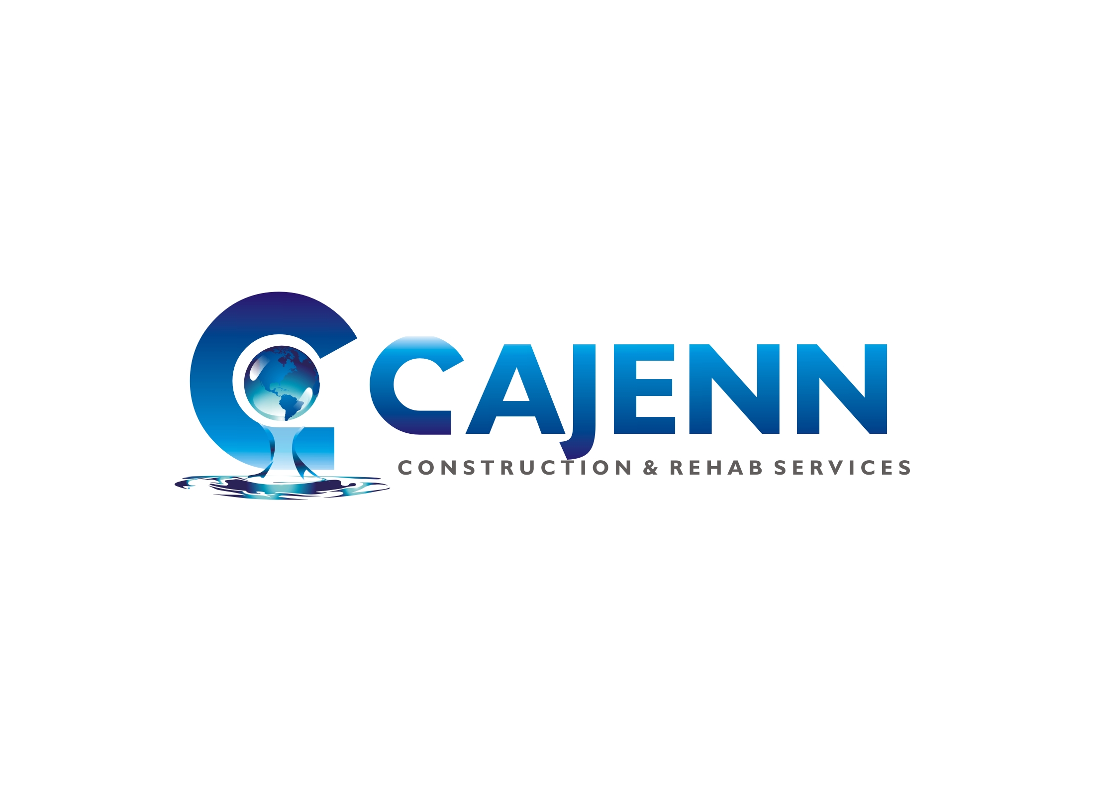 Logo Design by Zdravko Krulj - Entry No. 47 in the Logo Design Contest New Logo Design for CaJenn Construction & Rehab Services.