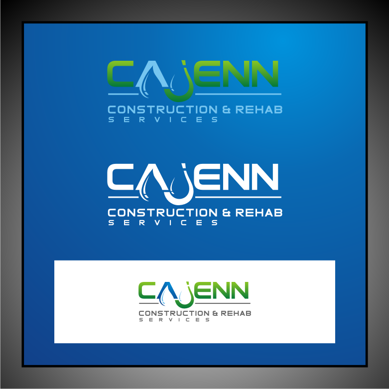 Logo Design by graphicleaf - Entry No. 51 in the Logo Design Contest New Logo Design for CaJenn Construction & Rehab Services.