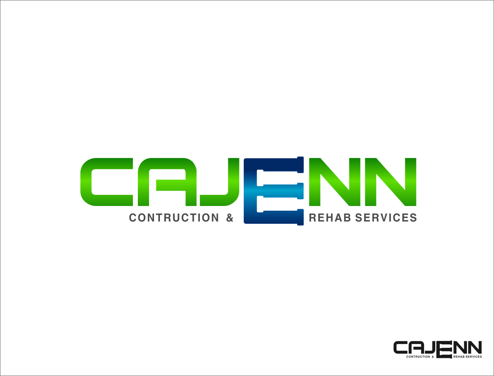 Logo Design by RoSyid Rono-Rene On Java - Entry No. 52 in the Logo Design Contest New Logo Design for CaJenn Construction & Rehab Services.