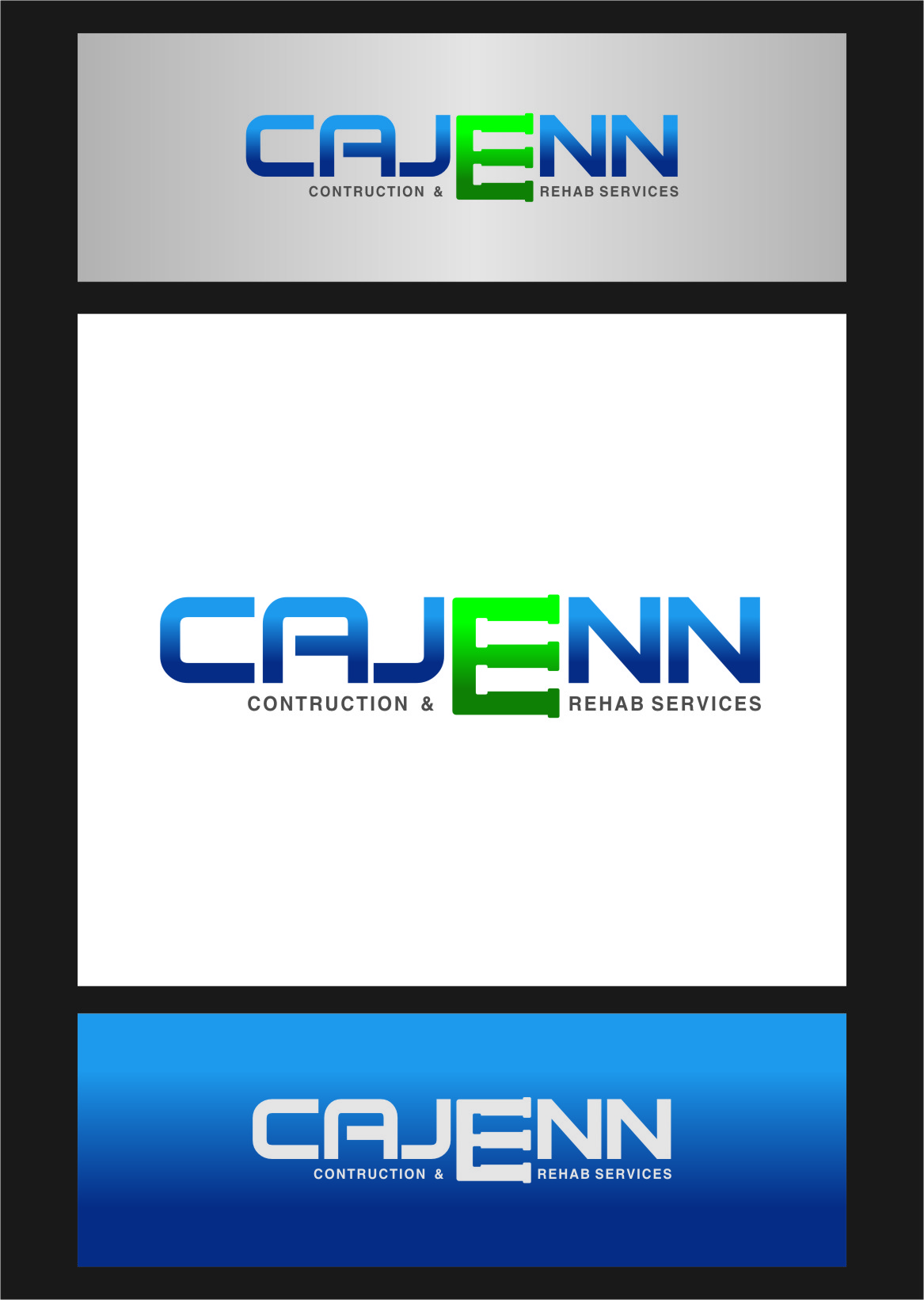 Logo Design by Ngepet_art - Entry No. 53 in the Logo Design Contest New Logo Design for CaJenn Construction & Rehab Services.