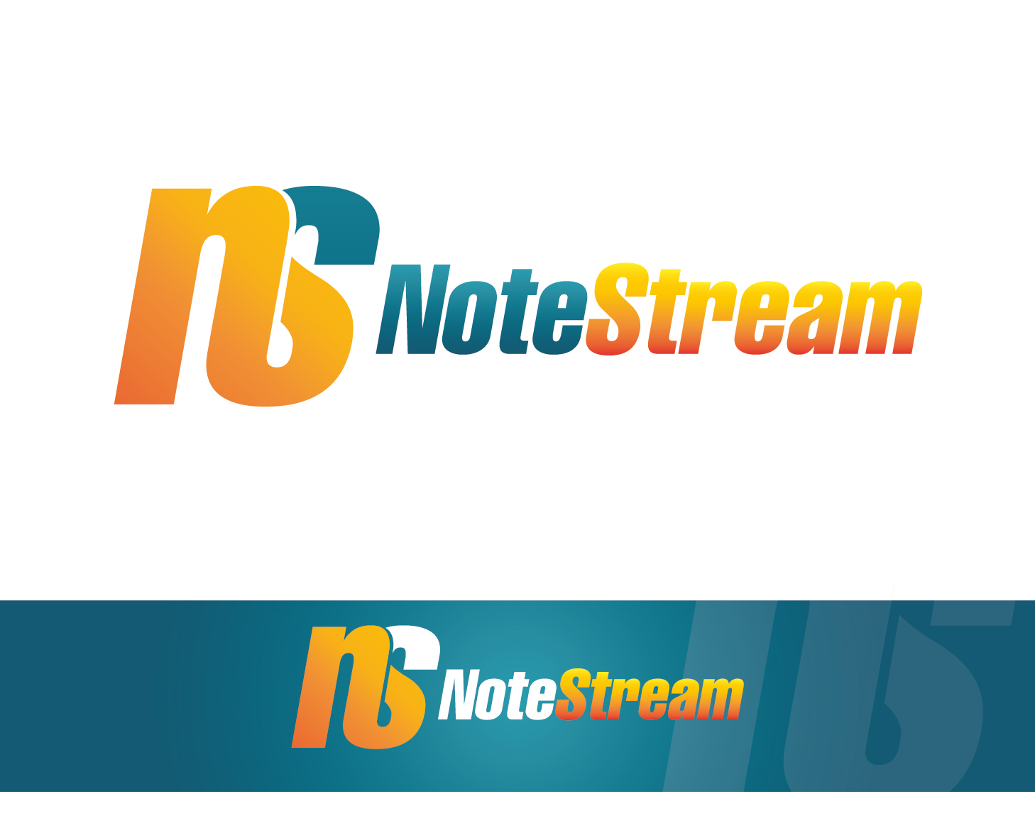 Logo Design by VENTSISLAV KOVACHEV - Entry No. 25 in the Logo Design Contest Imaginative Logo Design for NoteStream.