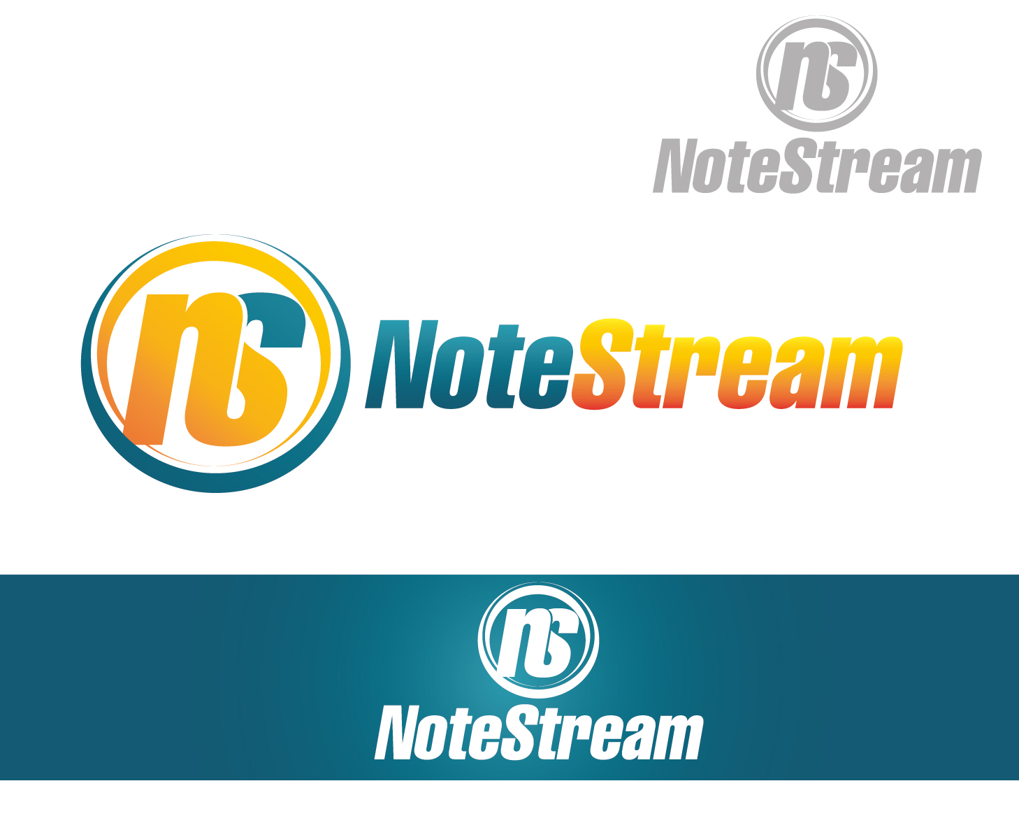 Logo Design by VENTSISLAV KOVACHEV - Entry No. 28 in the Logo Design Contest Imaginative Logo Design for NoteStream.