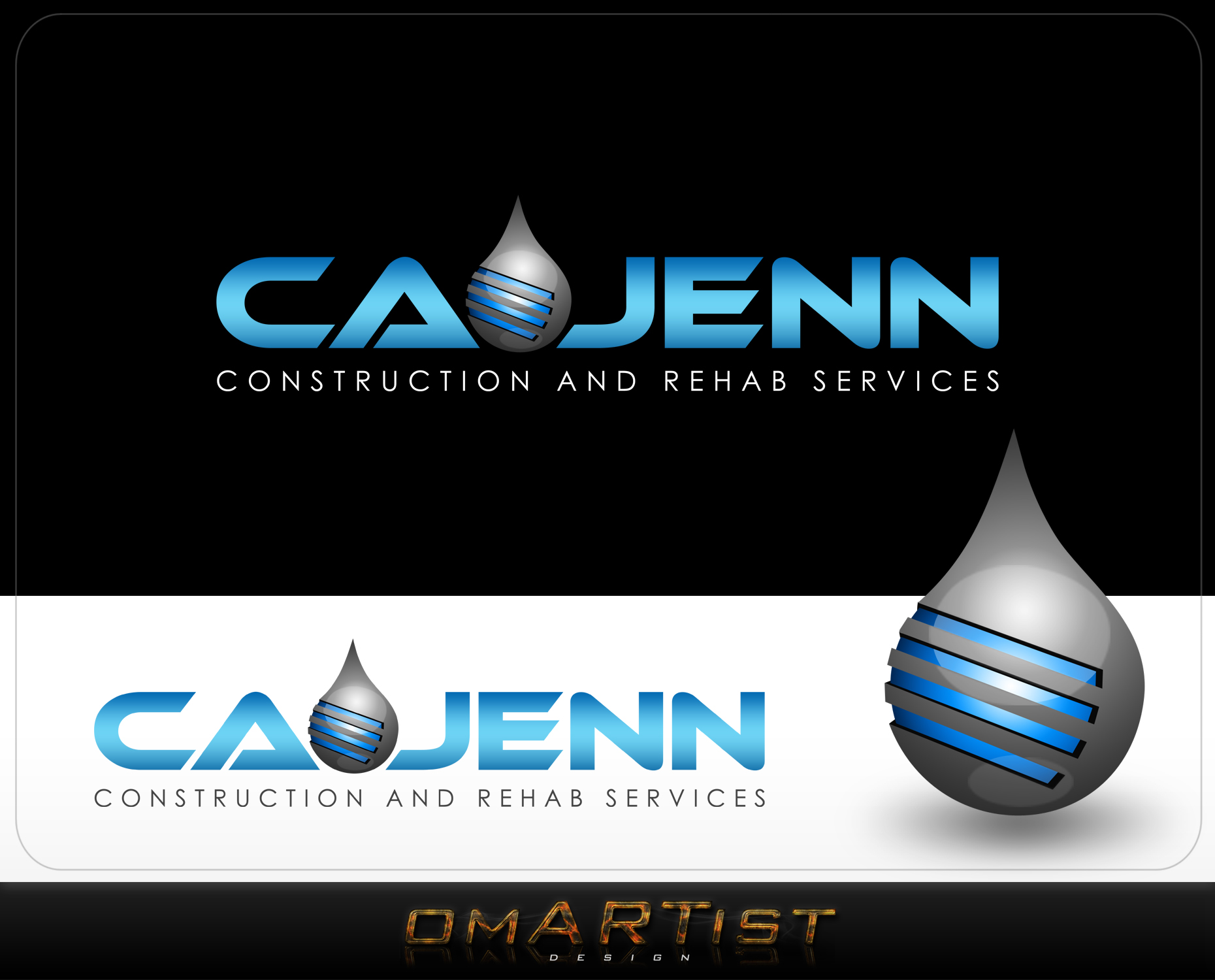 Logo Design by omARTist - Entry No. 65 in the Logo Design Contest New Logo Design for CaJenn Construction & Rehab Services.