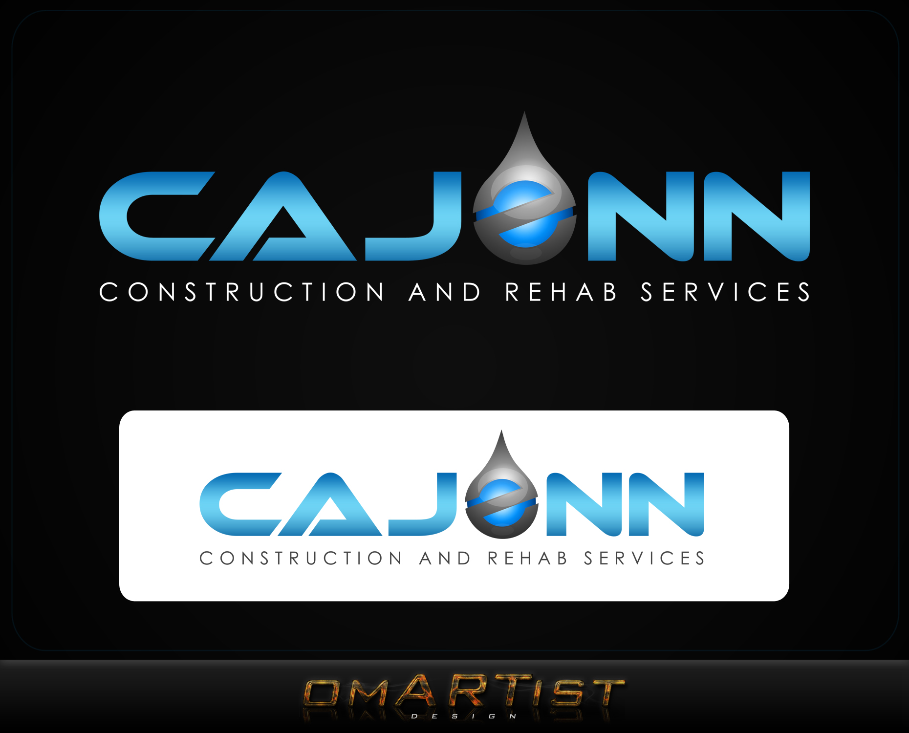 Logo Design by omARTist - Entry No. 66 in the Logo Design Contest New Logo Design for CaJenn Construction & Rehab Services.