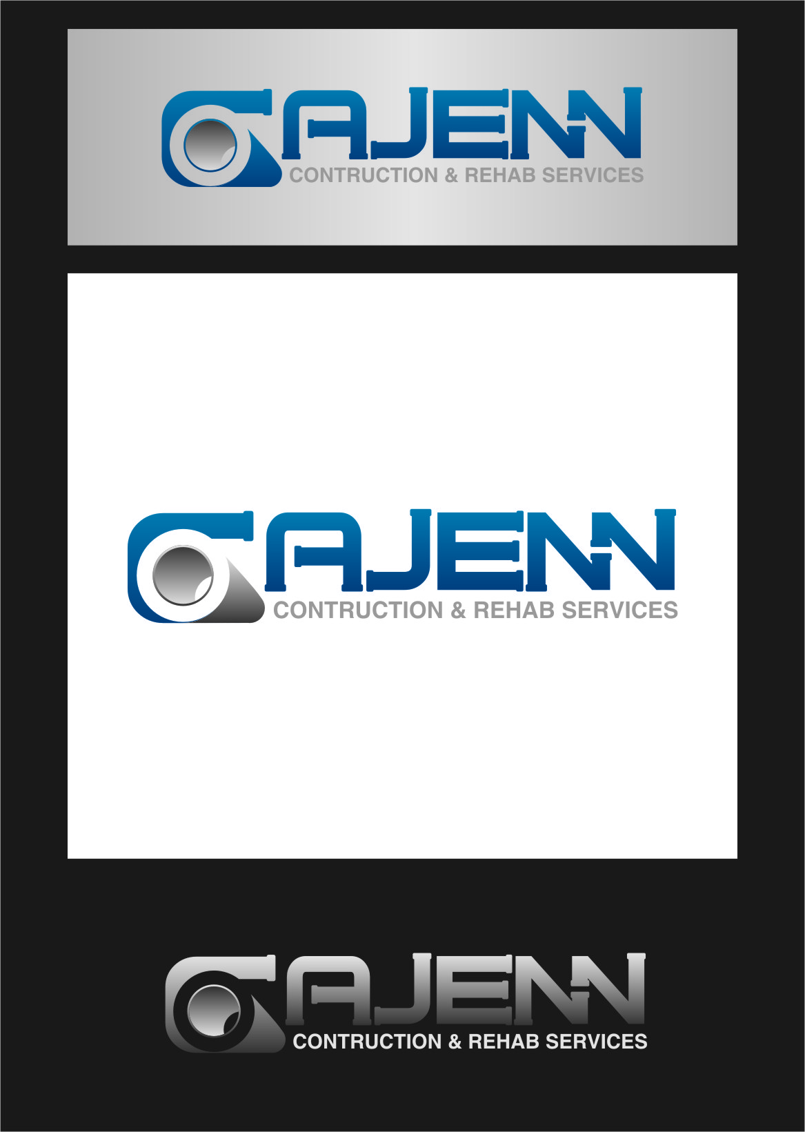 Logo Design by RasYa Muhammad Athaya - Entry No. 67 in the Logo Design Contest New Logo Design for CaJenn Construction & Rehab Services.