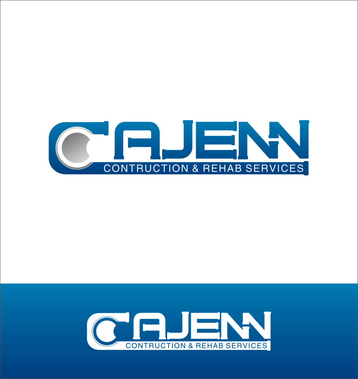 Logo Design by RasYa Muhammad Athaya - Entry No. 68 in the Logo Design Contest New Logo Design for CaJenn Construction & Rehab Services.