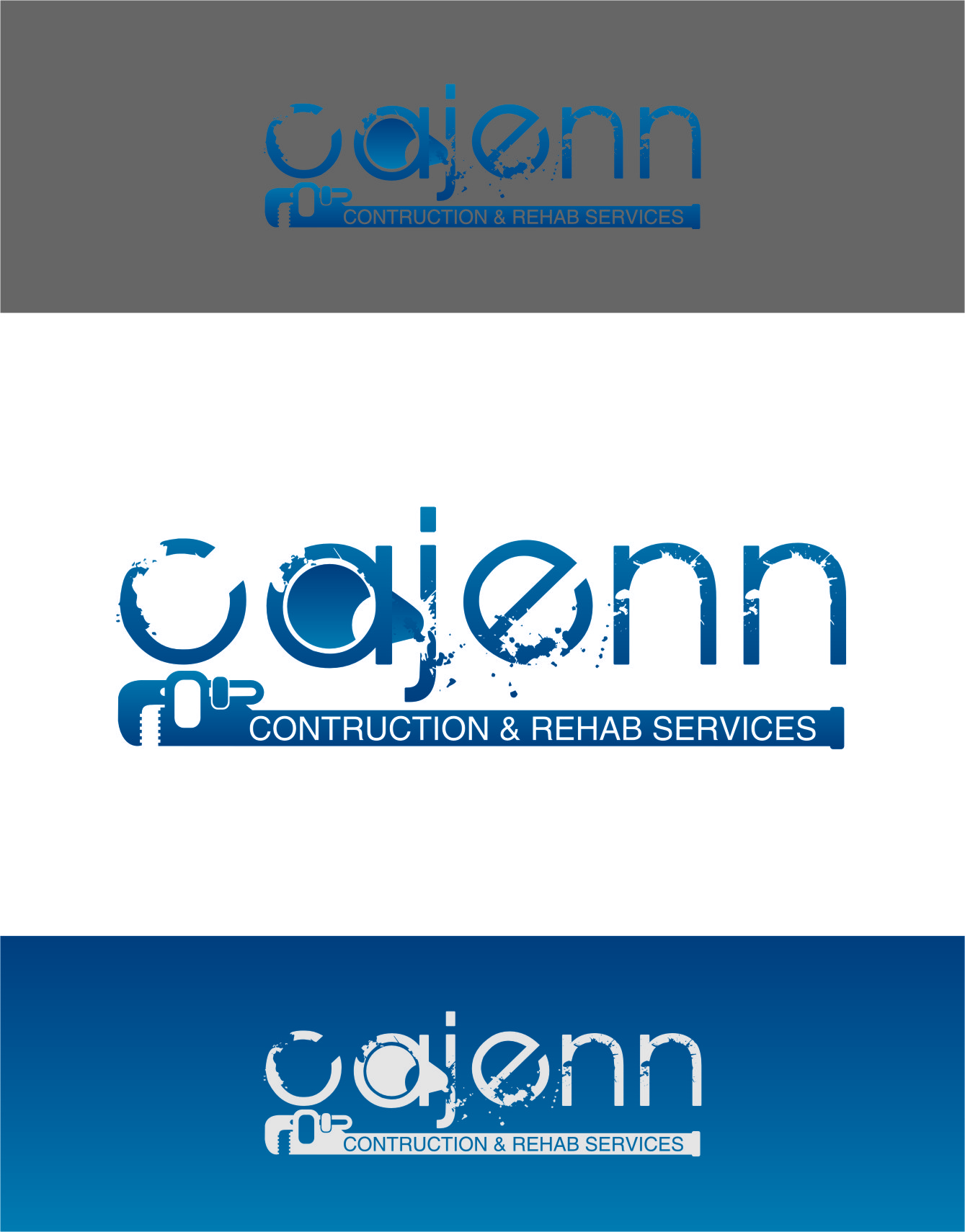 Logo Design by RasYa Muhammad Athaya - Entry No. 71 in the Logo Design Contest New Logo Design for CaJenn Construction & Rehab Services.