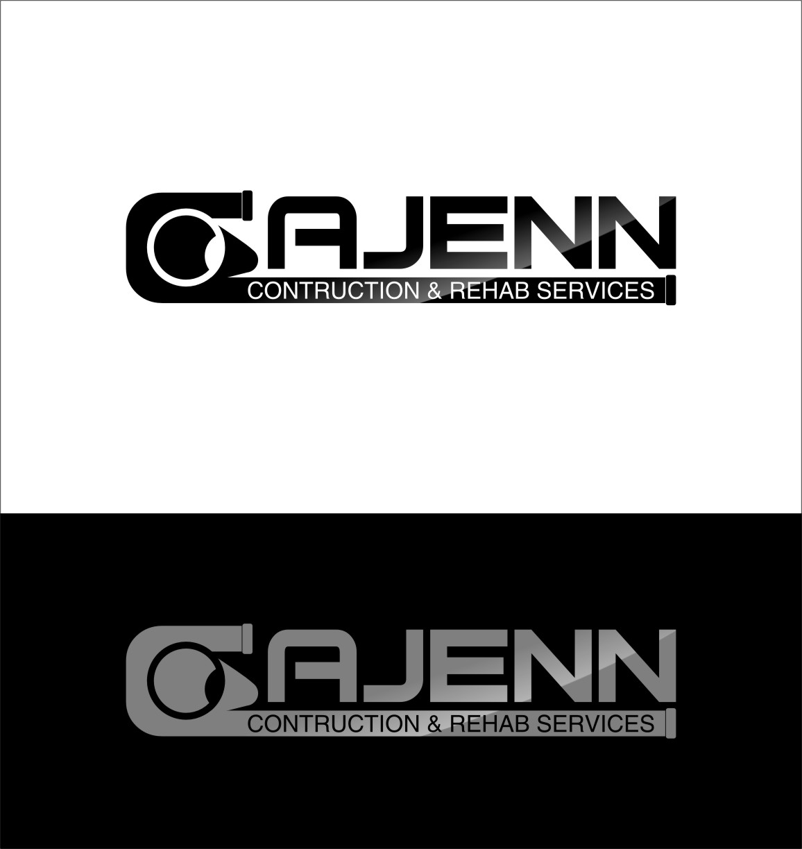 Logo Design by RasYa Muhammad Athaya - Entry No. 90 in the Logo Design Contest New Logo Design for CaJenn Construction & Rehab Services.
