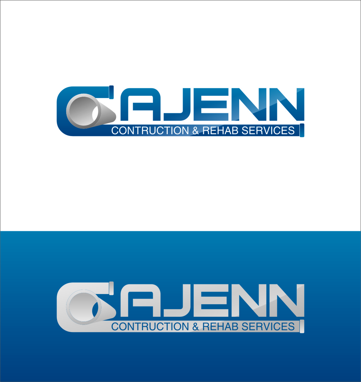 Logo Design by RasYa Muhammad Athaya - Entry No. 91 in the Logo Design Contest New Logo Design for CaJenn Construction & Rehab Services.