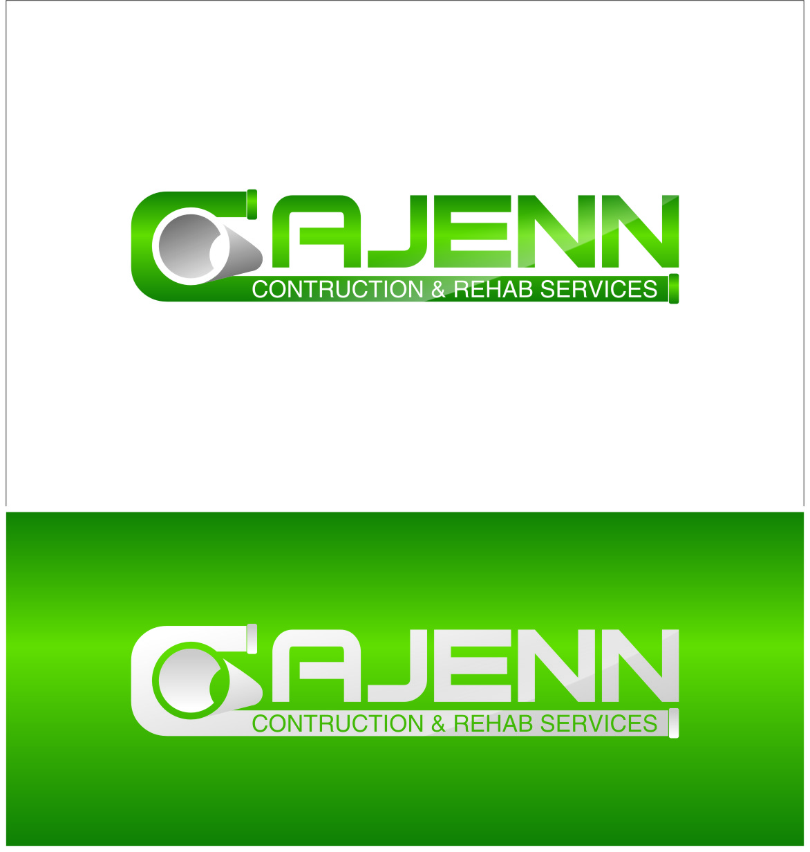Logo Design by Ngepet_art - Entry No. 93 in the Logo Design Contest New Logo Design for CaJenn Construction & Rehab Services.
