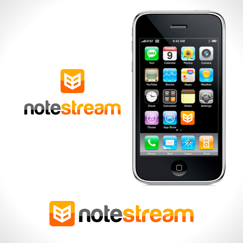 Logo Design by Private User - Entry No. 32 in the Logo Design Contest Imaginative Logo Design for NoteStream.