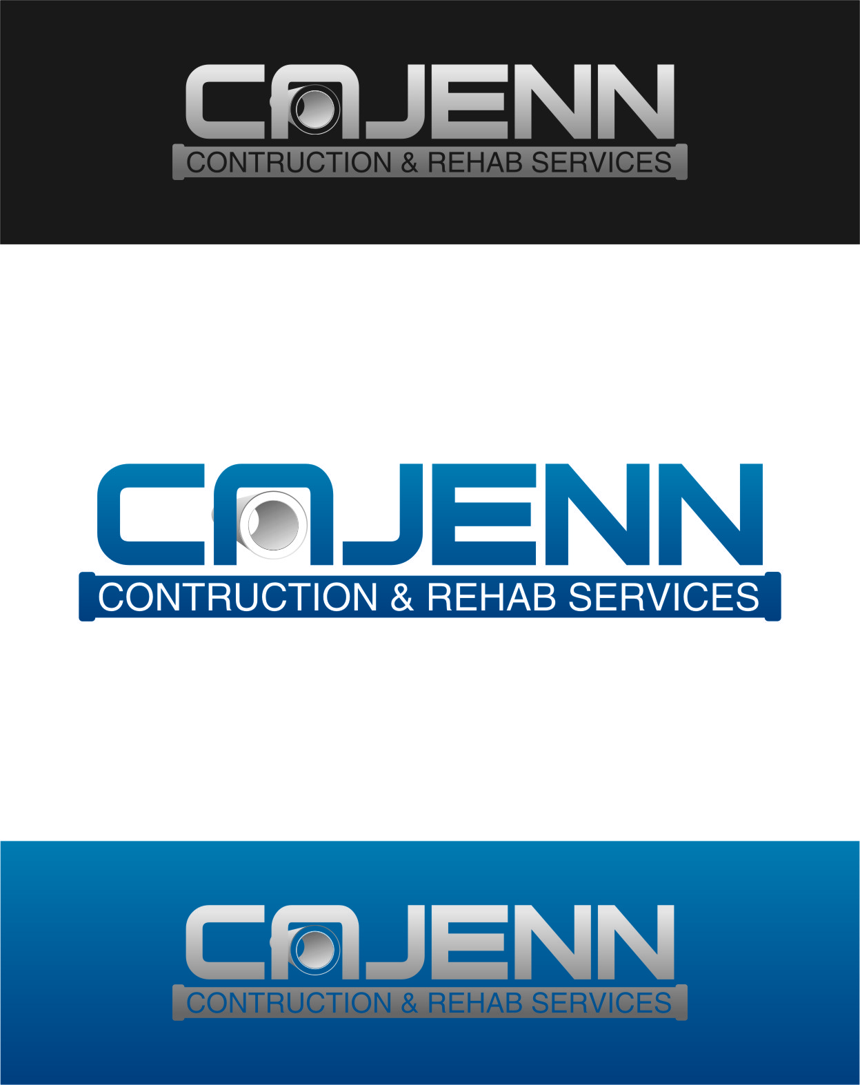 Logo Design by Ngepet_art - Entry No. 124 in the Logo Design Contest New Logo Design for CaJenn Construction & Rehab Services.