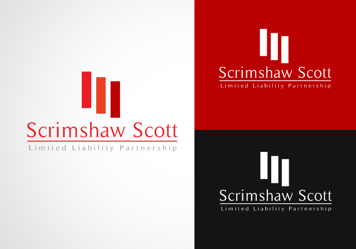 Logo Design by Jan Chua - Entry No. 7 in the Logo Design Contest Striking Logo Design for law firm SCRIMSHAW  SCOTT  LLP.