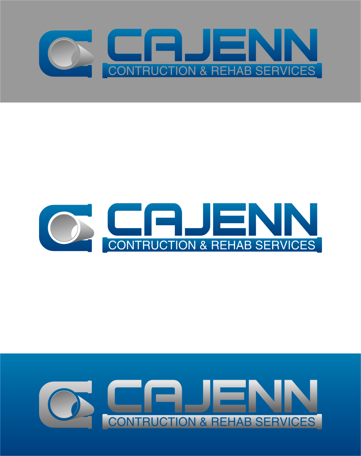 Logo Design by RasYa Muhammad Athaya - Entry No. 125 in the Logo Design Contest New Logo Design for CaJenn Construction & Rehab Services.