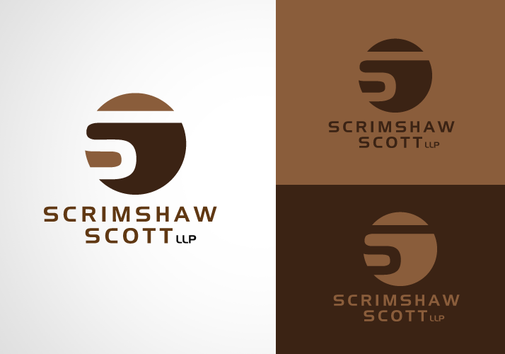 Logo Design by Jan Chua - Entry No. 8 in the Logo Design Contest Striking Logo Design for law firm SCRIMSHAW  SCOTT  LLP.