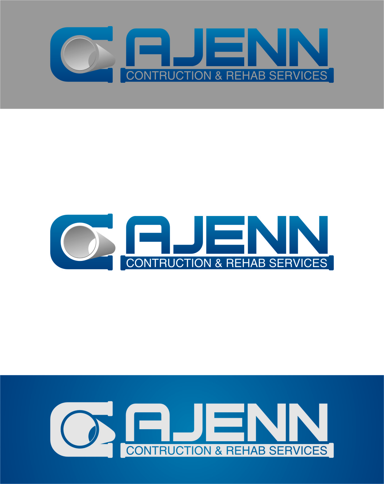 Logo Design by RasYa Muhammad Athaya - Entry No. 126 in the Logo Design Contest New Logo Design for CaJenn Construction & Rehab Services.