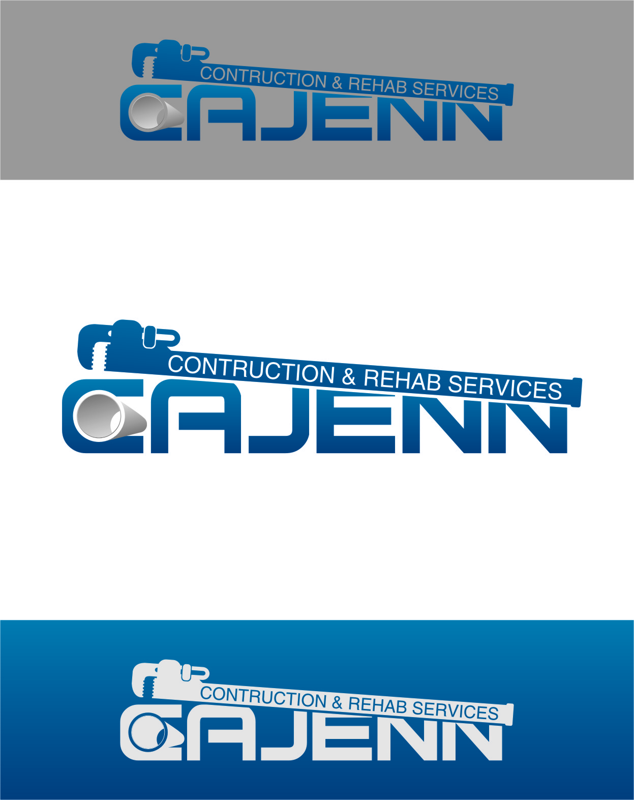 Logo Design by RasYa Muhammad Athaya - Entry No. 127 in the Logo Design Contest New Logo Design for CaJenn Construction & Rehab Services.
