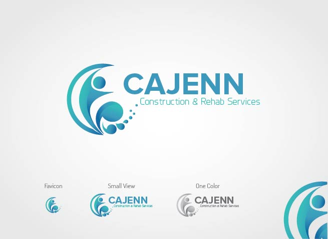 Logo Design by Shahriar Zaman - Entry No. 138 in the Logo Design Contest New Logo Design for CaJenn Construction & Rehab Services.