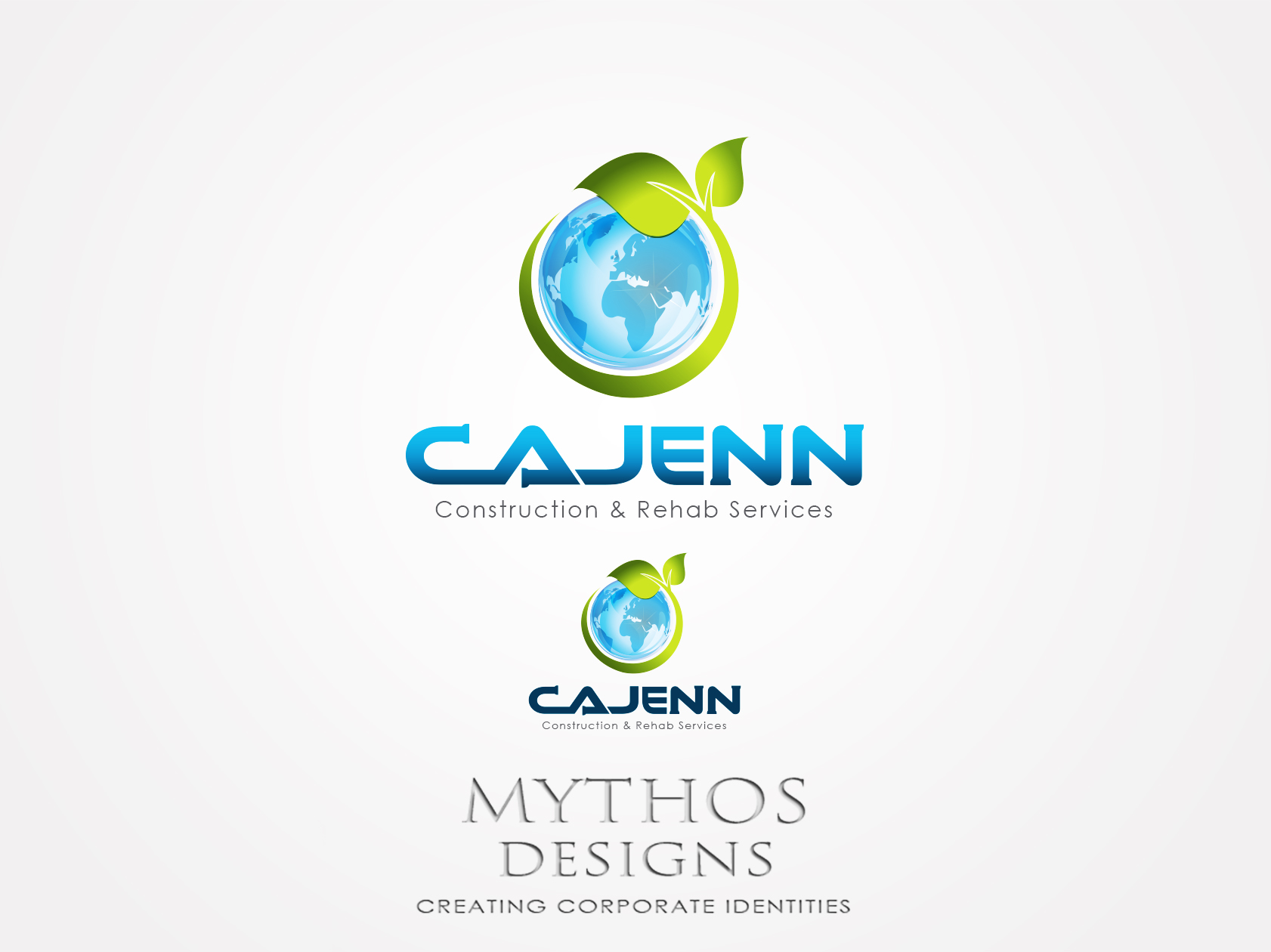 Logo Design by Mythos Designs - Entry No. 147 in the Logo Design Contest New Logo Design for CaJenn Construction & Rehab Services.