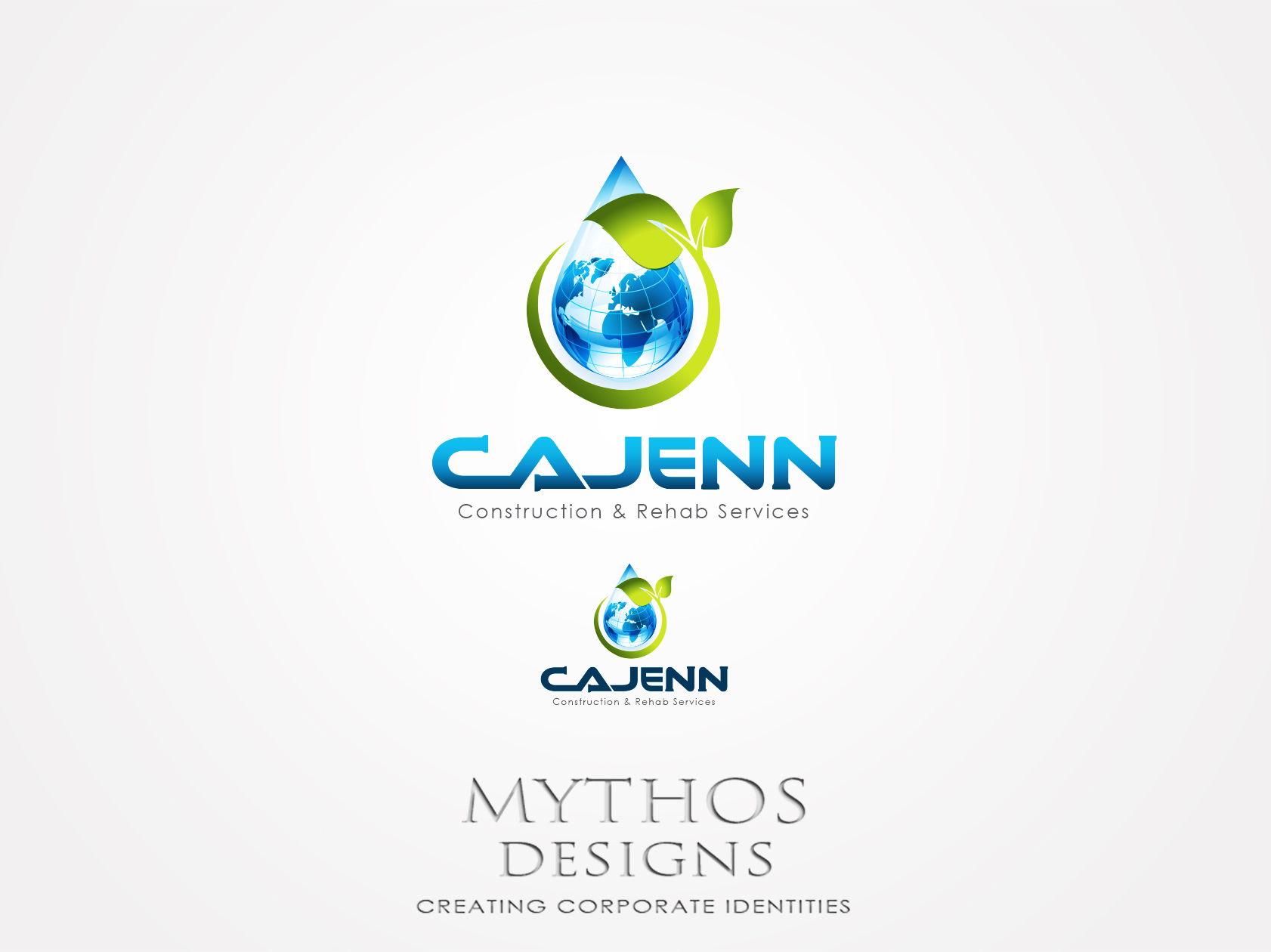 Logo Design by Mythos Designs - Entry No. 148 in the Logo Design Contest New Logo Design for CaJenn Construction & Rehab Services.