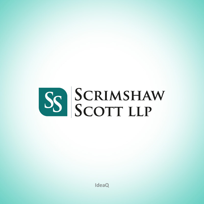 Logo Design by Private User - Entry No. 9 in the Logo Design Contest Striking Logo Design for law firm SCRIMSHAW  SCOTT  LLP.
