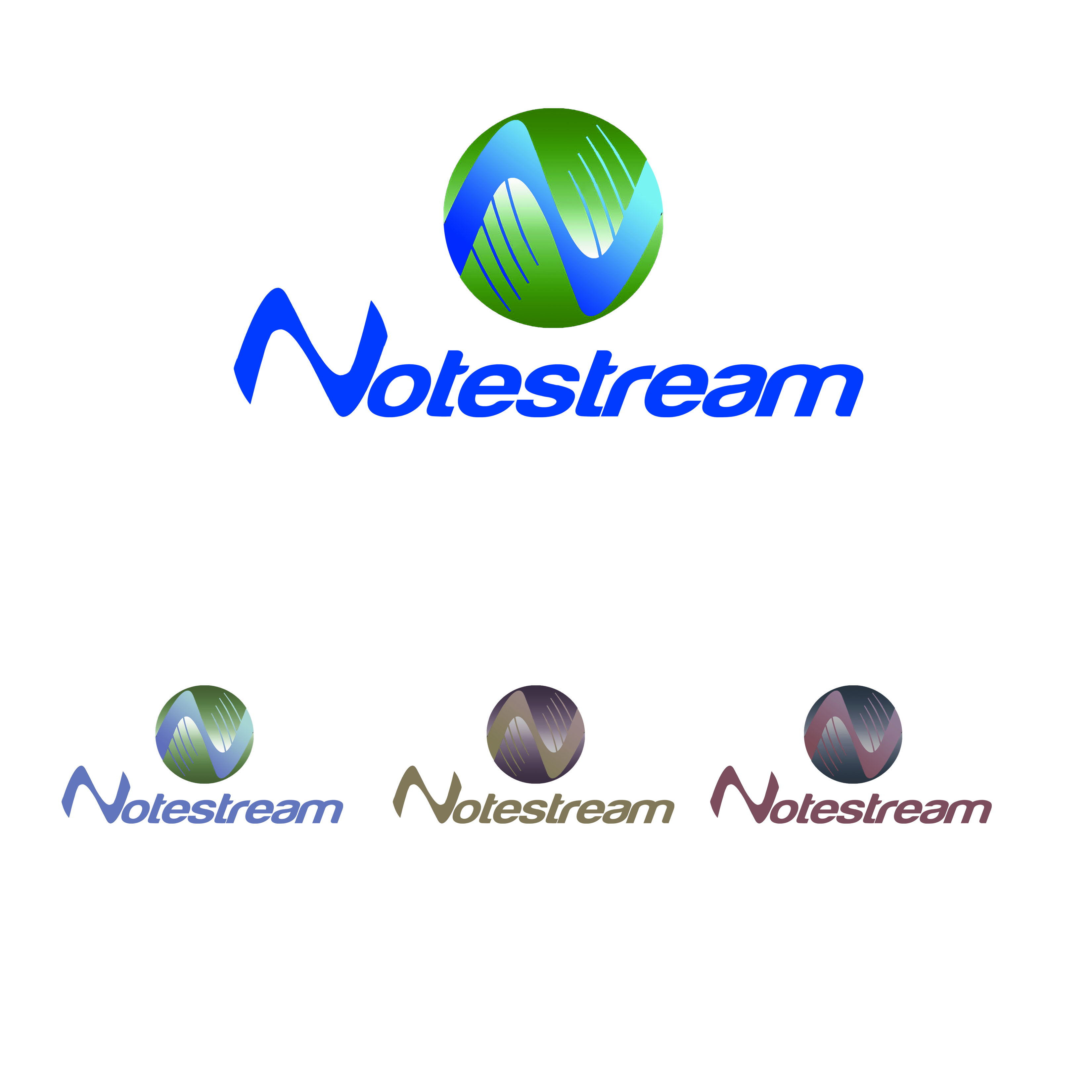 Logo Design by Alan Esclamado - Entry No. 56 in the Logo Design Contest Imaginative Logo Design for NoteStream.