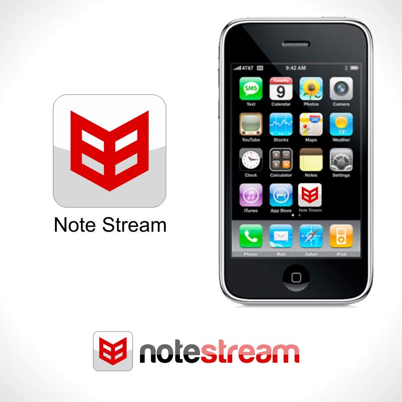 Logo Design by Private User - Entry No. 64 in the Logo Design Contest Imaginative Logo Design for NoteStream.