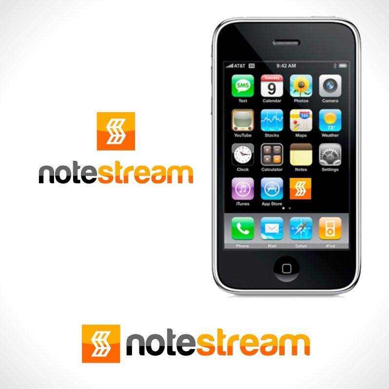 Logo Design by Private User - Entry No. 74 in the Logo Design Contest Imaginative Logo Design for NoteStream.