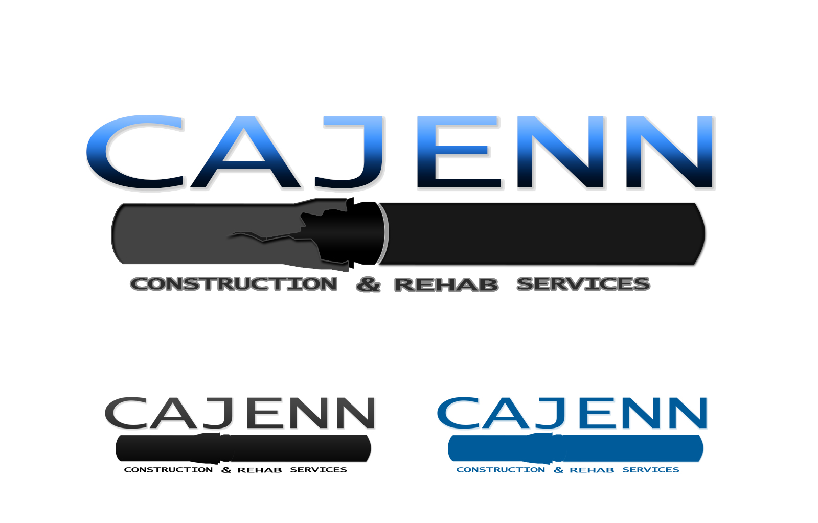 Logo Design by drunkman - Entry No. 172 in the Logo Design Contest New Logo Design for CaJenn Construction & Rehab Services.