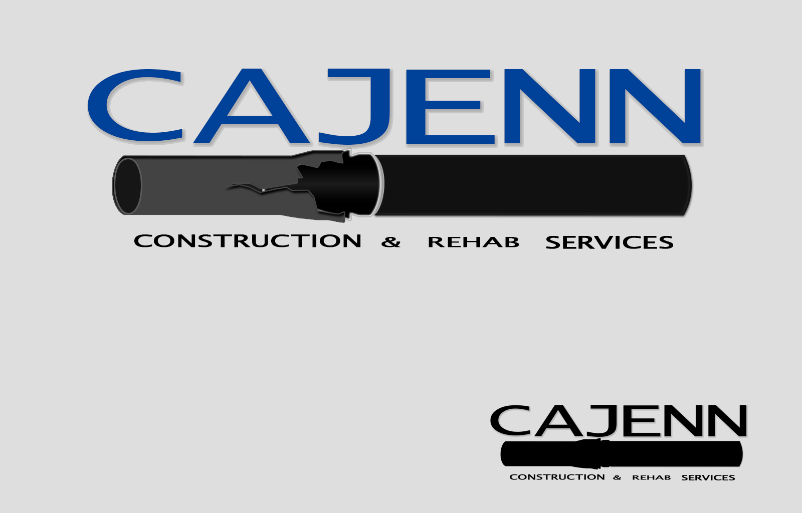 Logo Design by drunkman - Entry No. 173 in the Logo Design Contest New Logo Design for CaJenn Construction & Rehab Services.