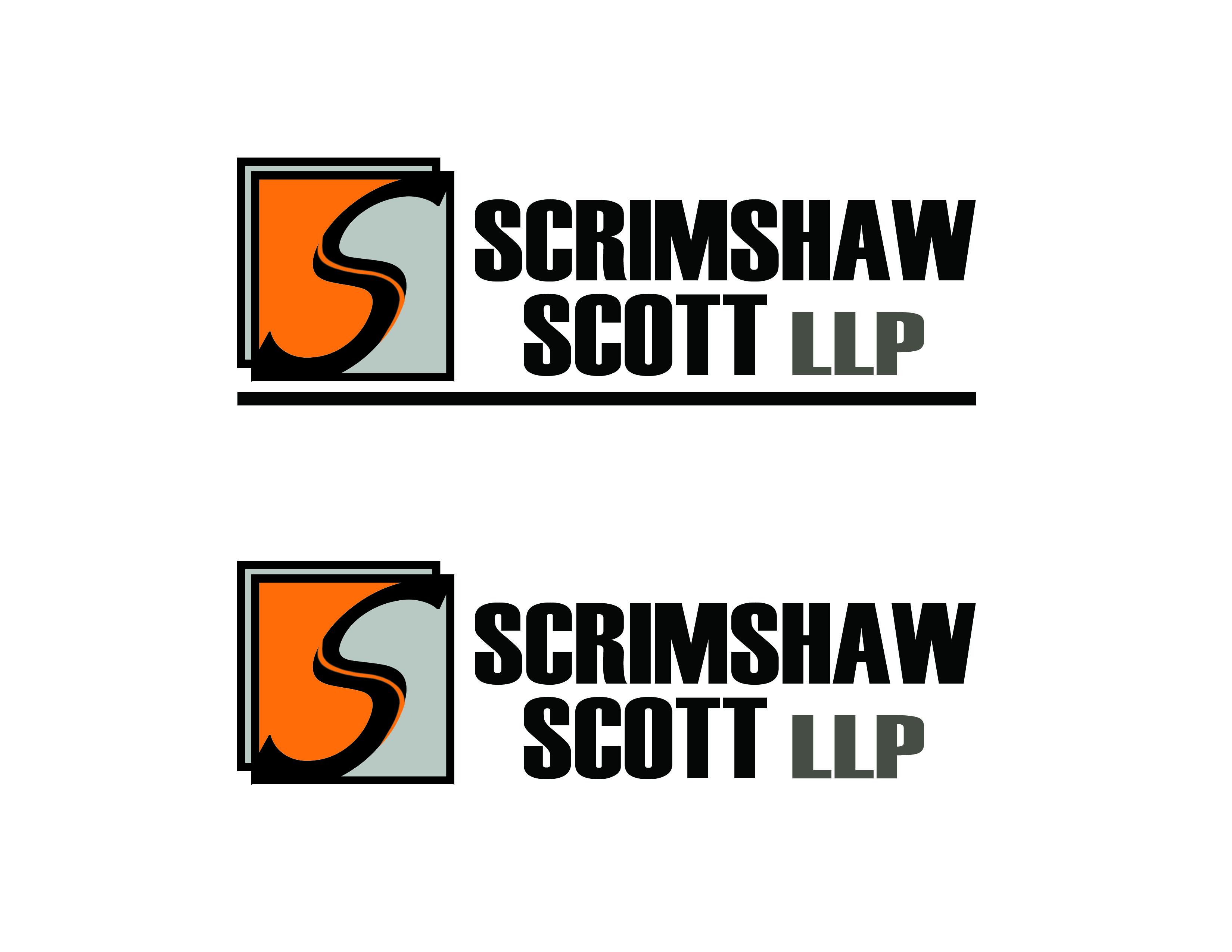 Logo Design by Alan Esclamado - Entry No. 12 in the Logo Design Contest Striking Logo Design for law firm SCRIMSHAW  SCOTT  LLP.