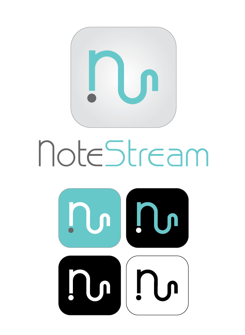 Logo Design by Christina Evans - Entry No. 84 in the Logo Design Contest Imaginative Logo Design for NoteStream.