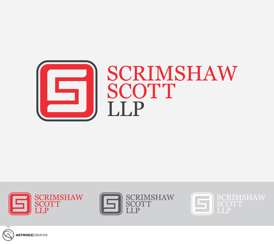 Logo Design by Quirejun Akol - Entry No. 18 in the Logo Design Contest Striking Logo Design for law firm SCRIMSHAW  SCOTT  LLP.