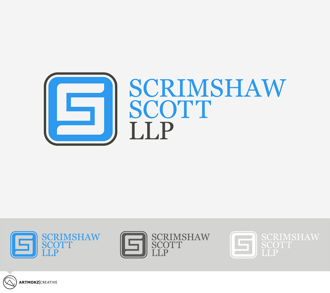 Logo Design by Quirejun Akol - Entry No. 19 in the Logo Design Contest Striking Logo Design for law firm SCRIMSHAW  SCOTT  LLP.