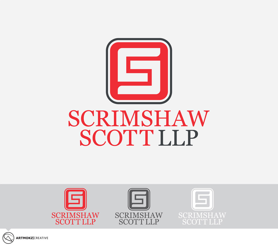 Logo Design by Quirejun Akol - Entry No. 20 in the Logo Design Contest Striking Logo Design for law firm SCRIMSHAW  SCOTT  LLP.