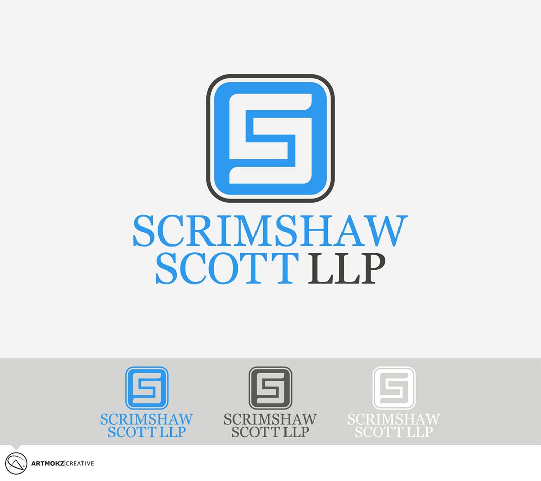 Logo Design by Quirejun Akol - Entry No. 21 in the Logo Design Contest Striking Logo Design for law firm SCRIMSHAW  SCOTT  LLP.