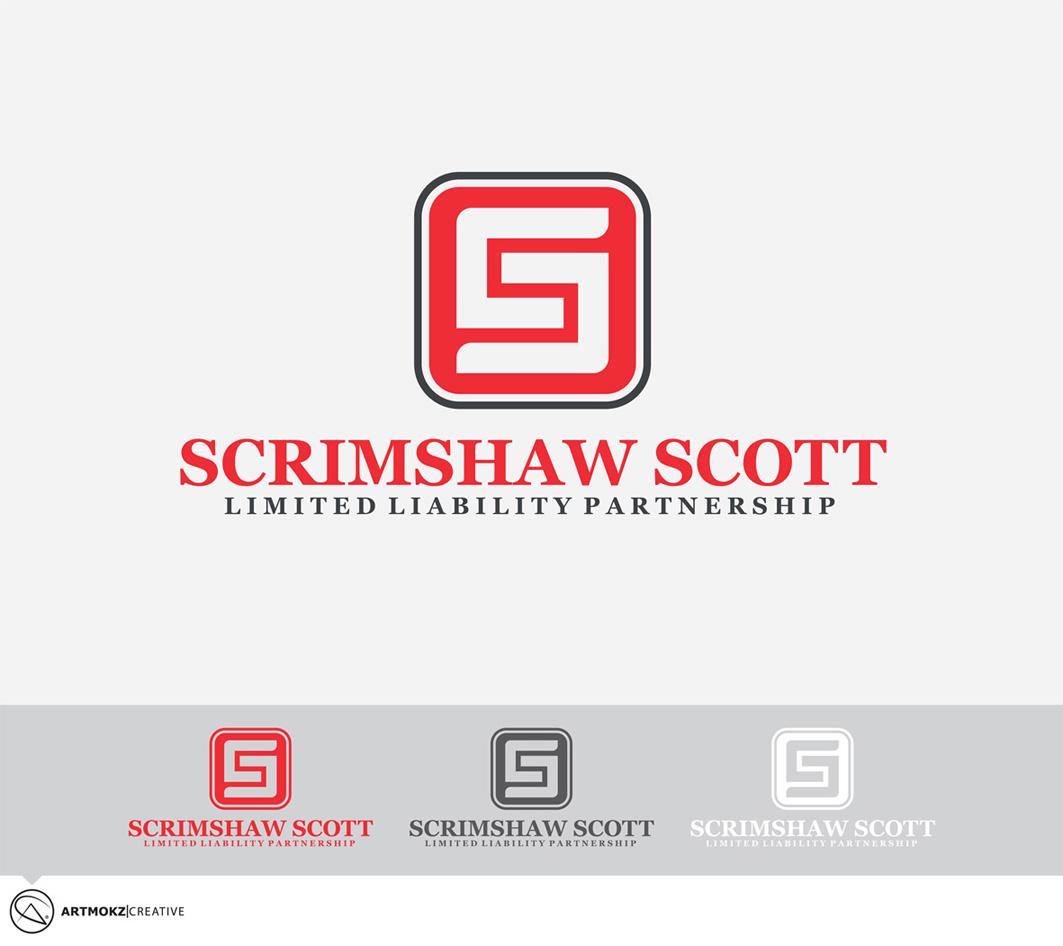Logo Design by Quirejun Akol - Entry No. 22 in the Logo Design Contest Striking Logo Design for law firm SCRIMSHAW  SCOTT  LLP.