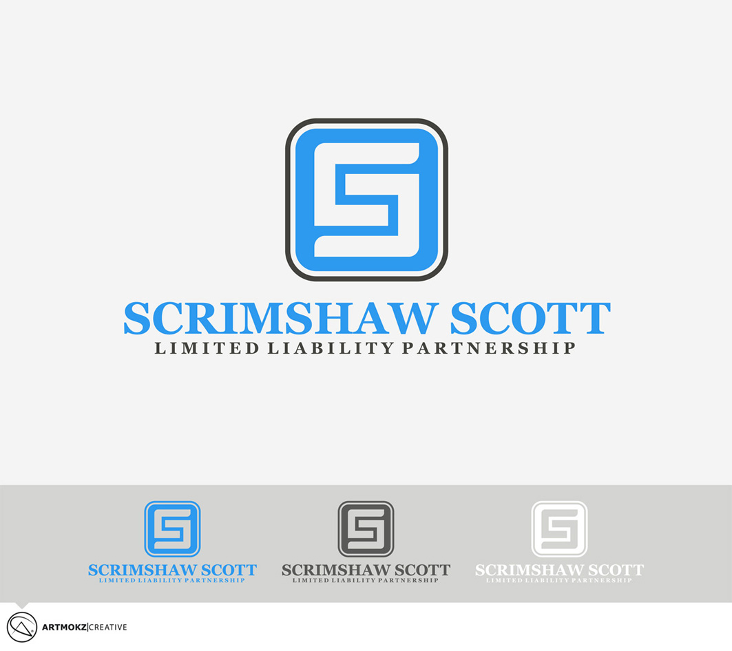 Logo Design by Quirejun Akol - Entry No. 23 in the Logo Design Contest Striking Logo Design for law firm SCRIMSHAW  SCOTT  LLP.