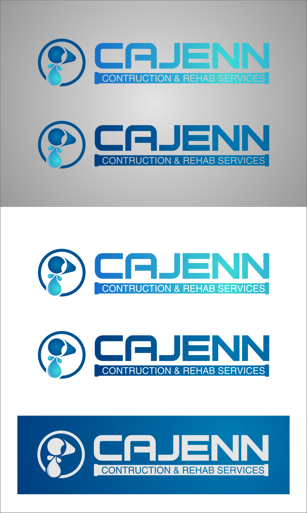 Logo Design by RoSyid Rono-Rene On Java - Entry No. 175 in the Logo Design Contest New Logo Design for CaJenn Construction & Rehab Services.