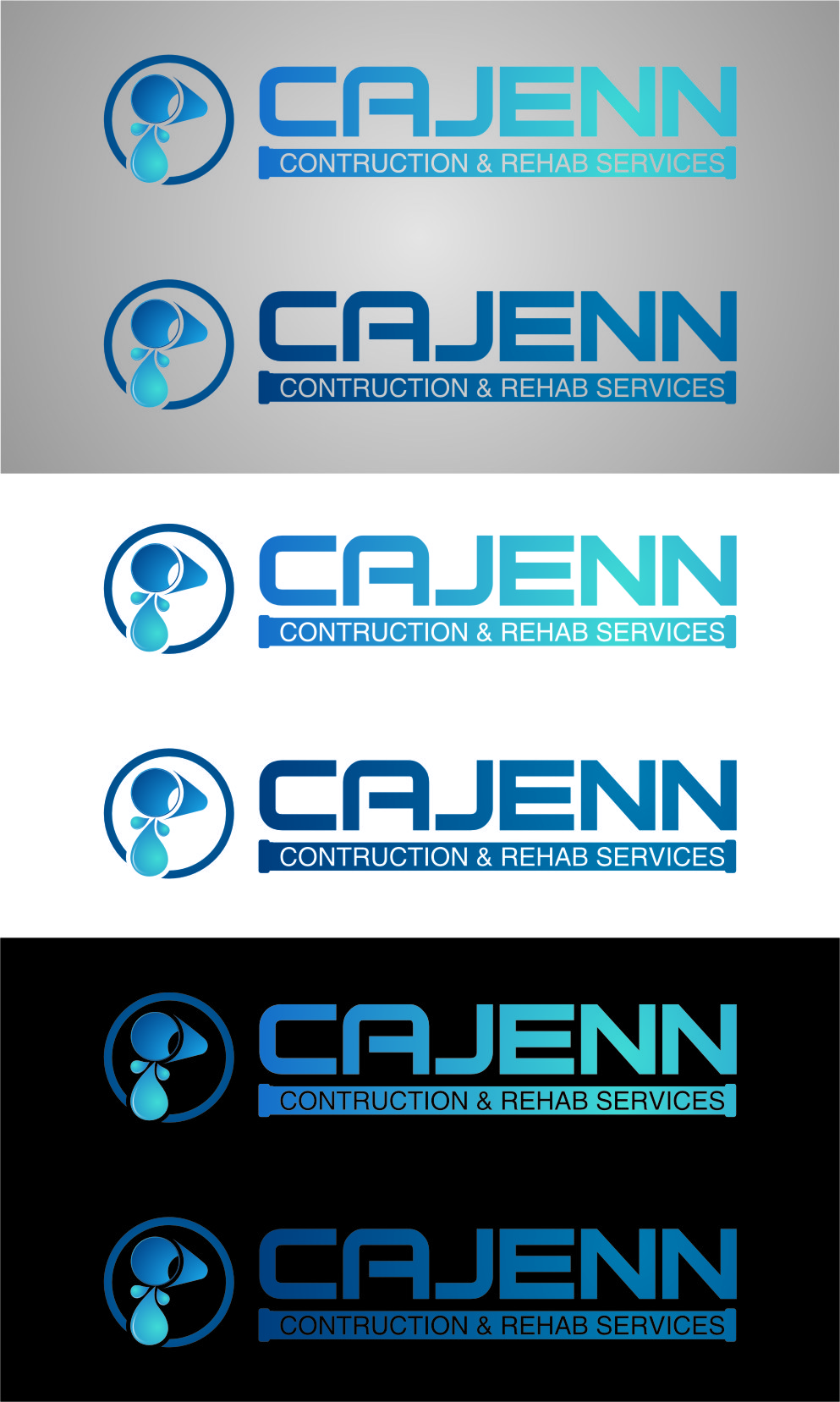 Logo Design by Ngepet_art - Entry No. 176 in the Logo Design Contest New Logo Design for CaJenn Construction & Rehab Services.