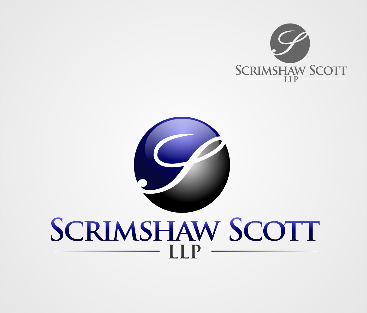 Logo Design by Reivan Ferdinan - Entry No. 29 in the Logo Design Contest Striking Logo Design for law firm SCRIMSHAW  SCOTT  LLP.