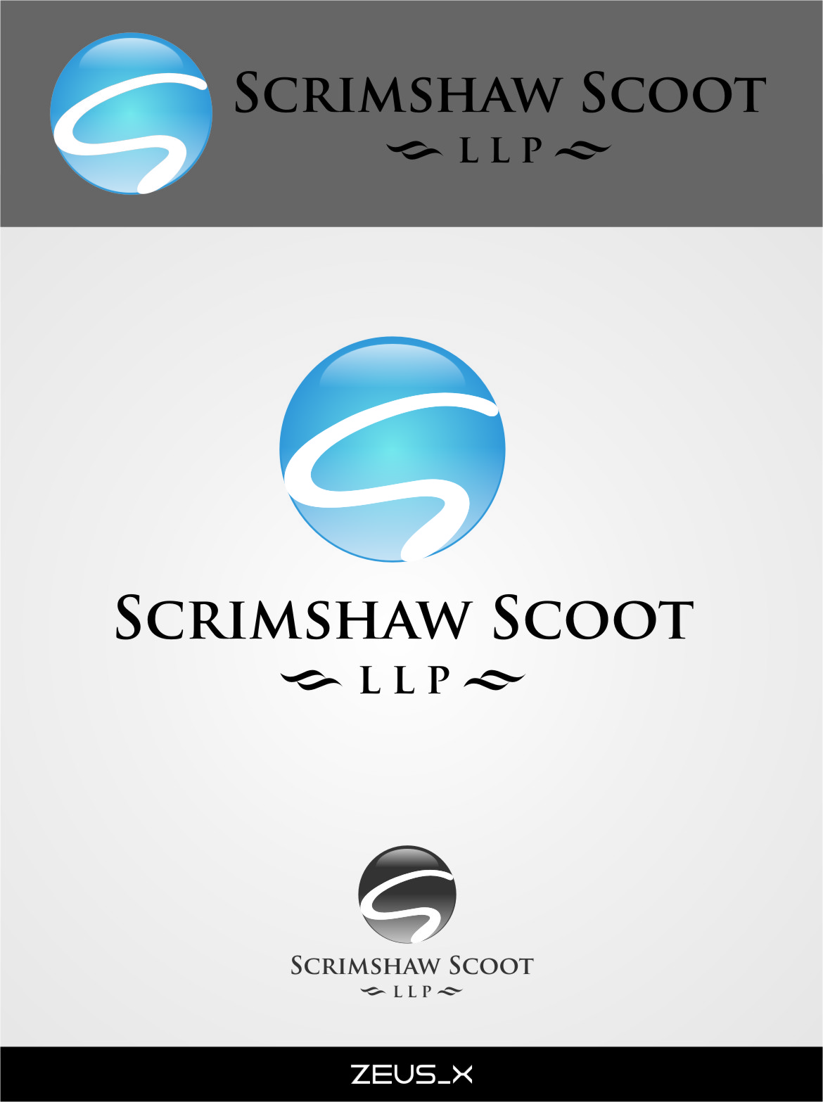 Logo Design by RasYa Muhammad Athaya - Entry No. 31 in the Logo Design Contest Striking Logo Design for law firm SCRIMSHAW  SCOTT  LLP.