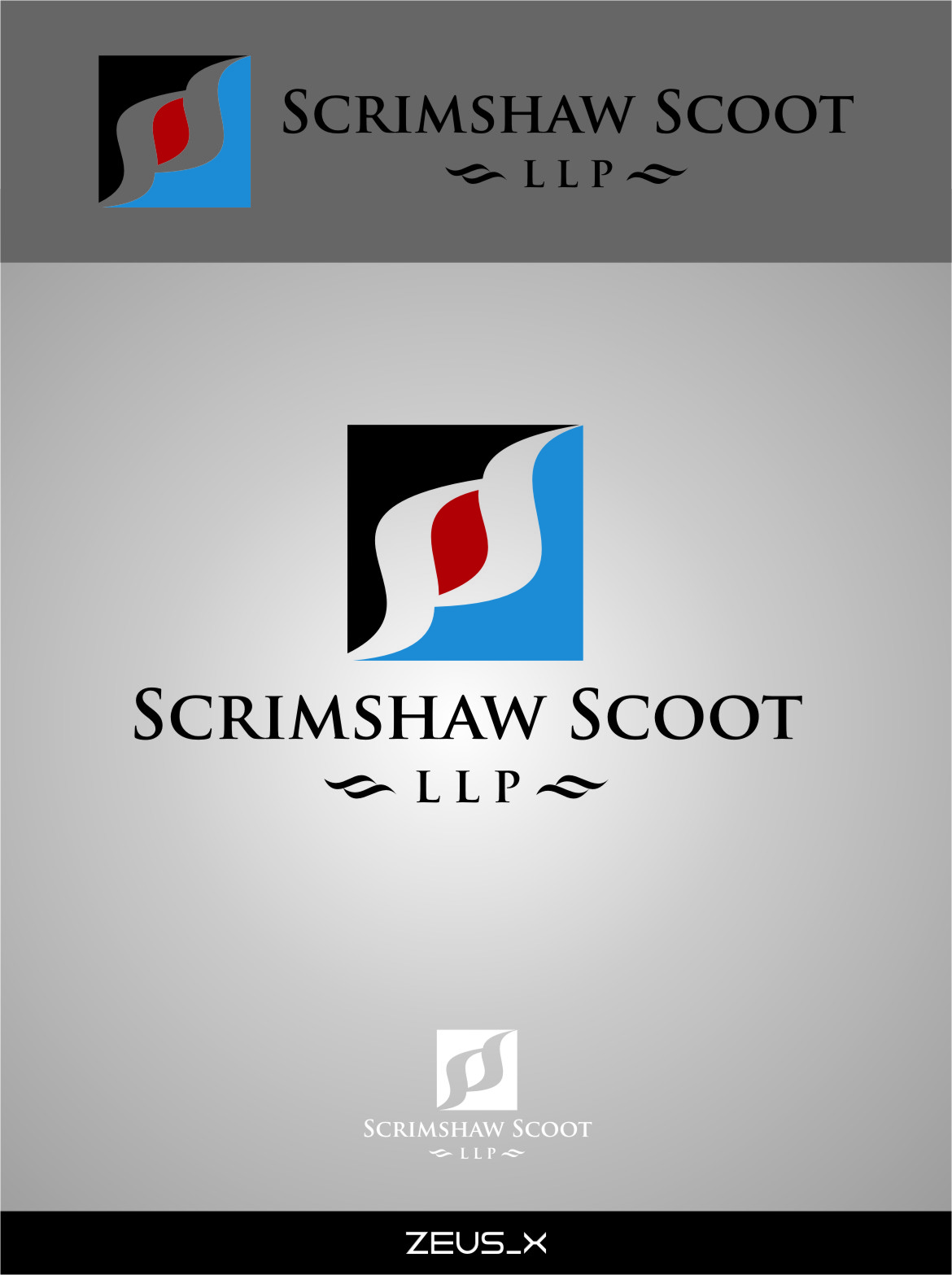 Logo Design by RasYa Muhammad Athaya - Entry No. 33 in the Logo Design Contest Striking Logo Design for law firm SCRIMSHAW  SCOTT  LLP.