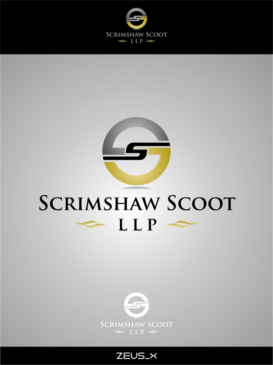 Logo Design by RasYa Muhammad Athaya - Entry No. 36 in the Logo Design Contest Striking Logo Design for law firm SCRIMSHAW  SCOTT  LLP.