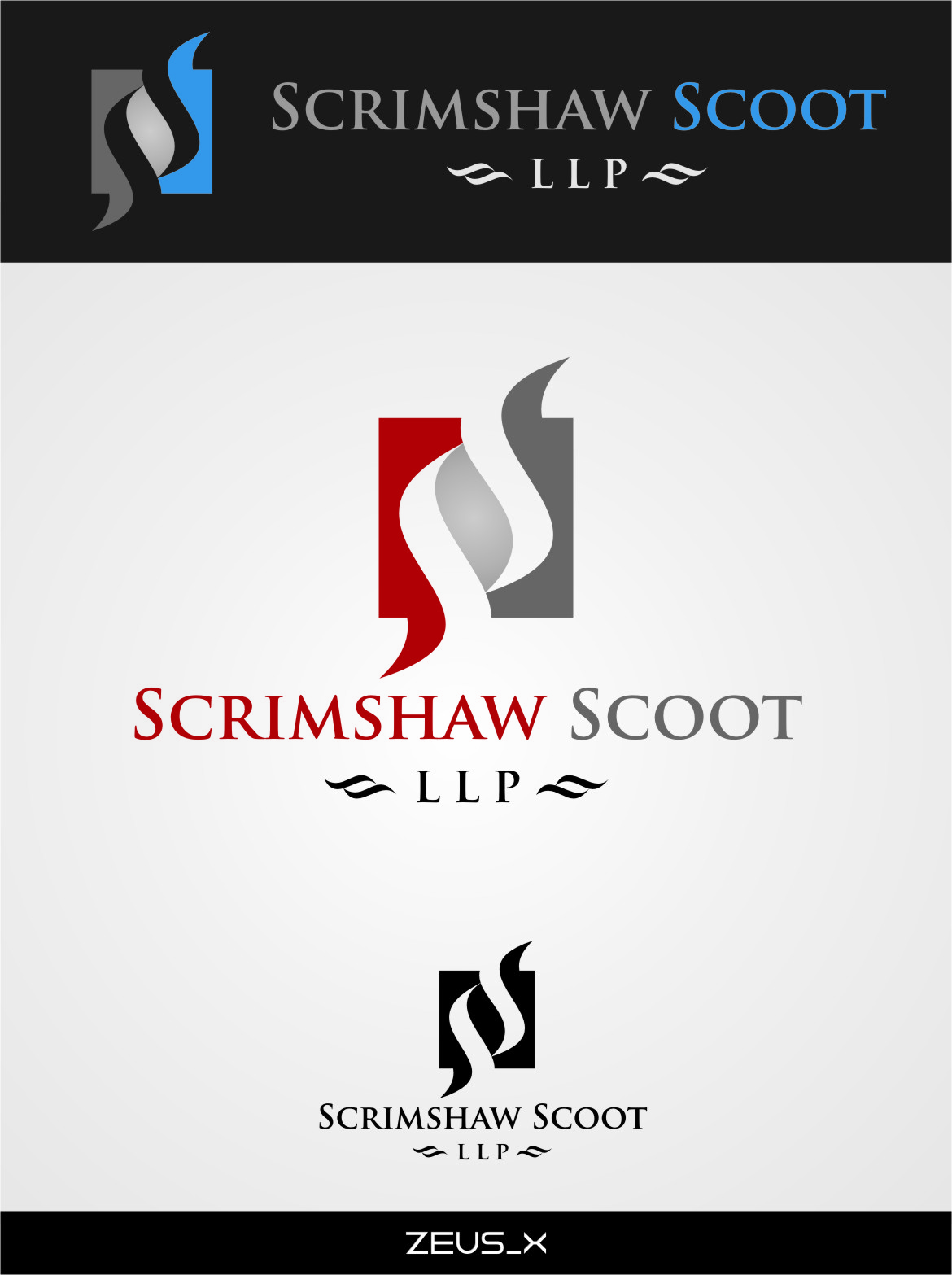 Logo Design by RasYa Muhammad Athaya - Entry No. 37 in the Logo Design Contest Striking Logo Design for law firm SCRIMSHAW  SCOTT  LLP.