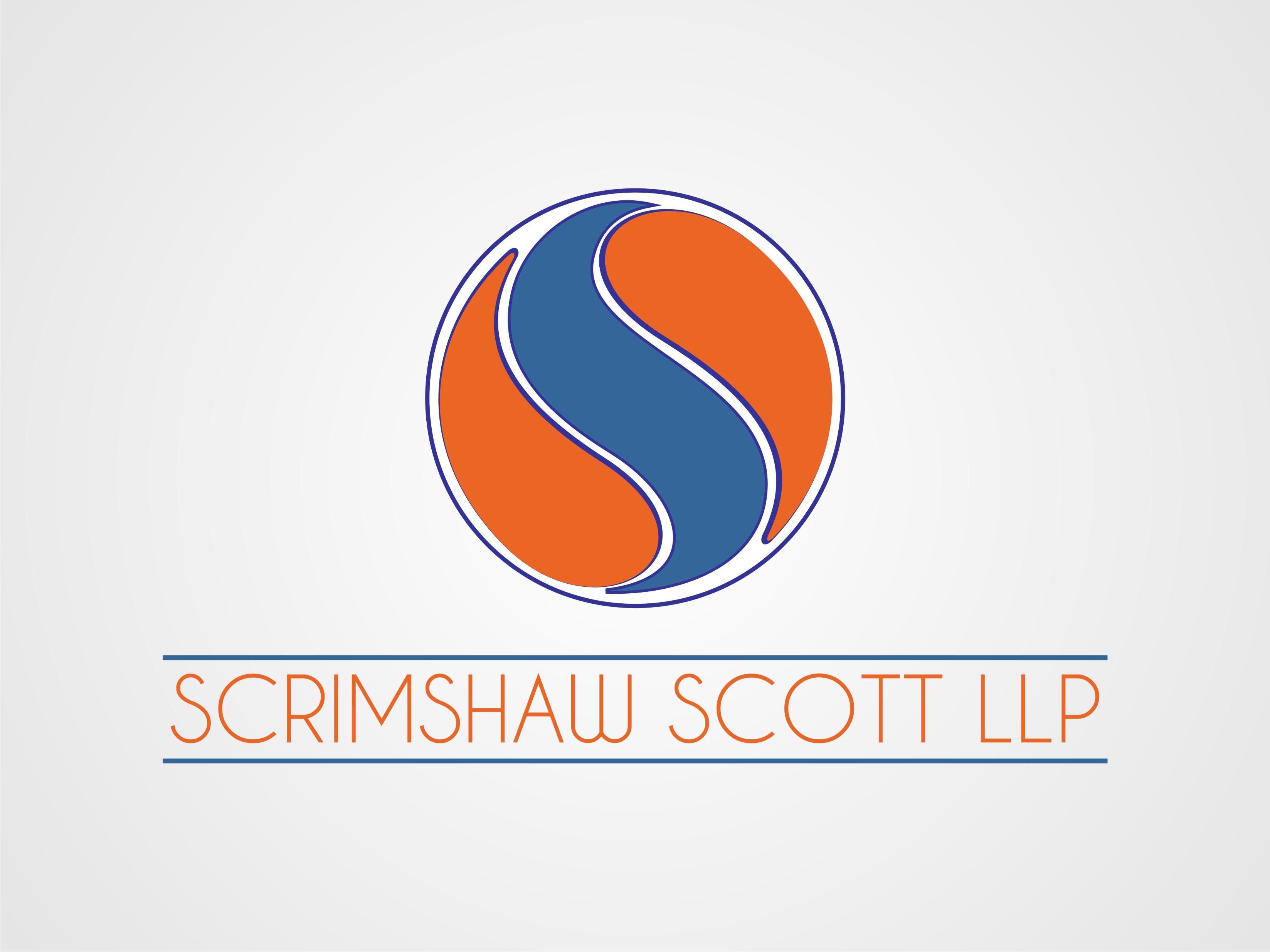 Logo Design by Charles Layos - Entry No. 39 in the Logo Design Contest Striking Logo Design for law firm SCRIMSHAW  SCOTT  LLP.