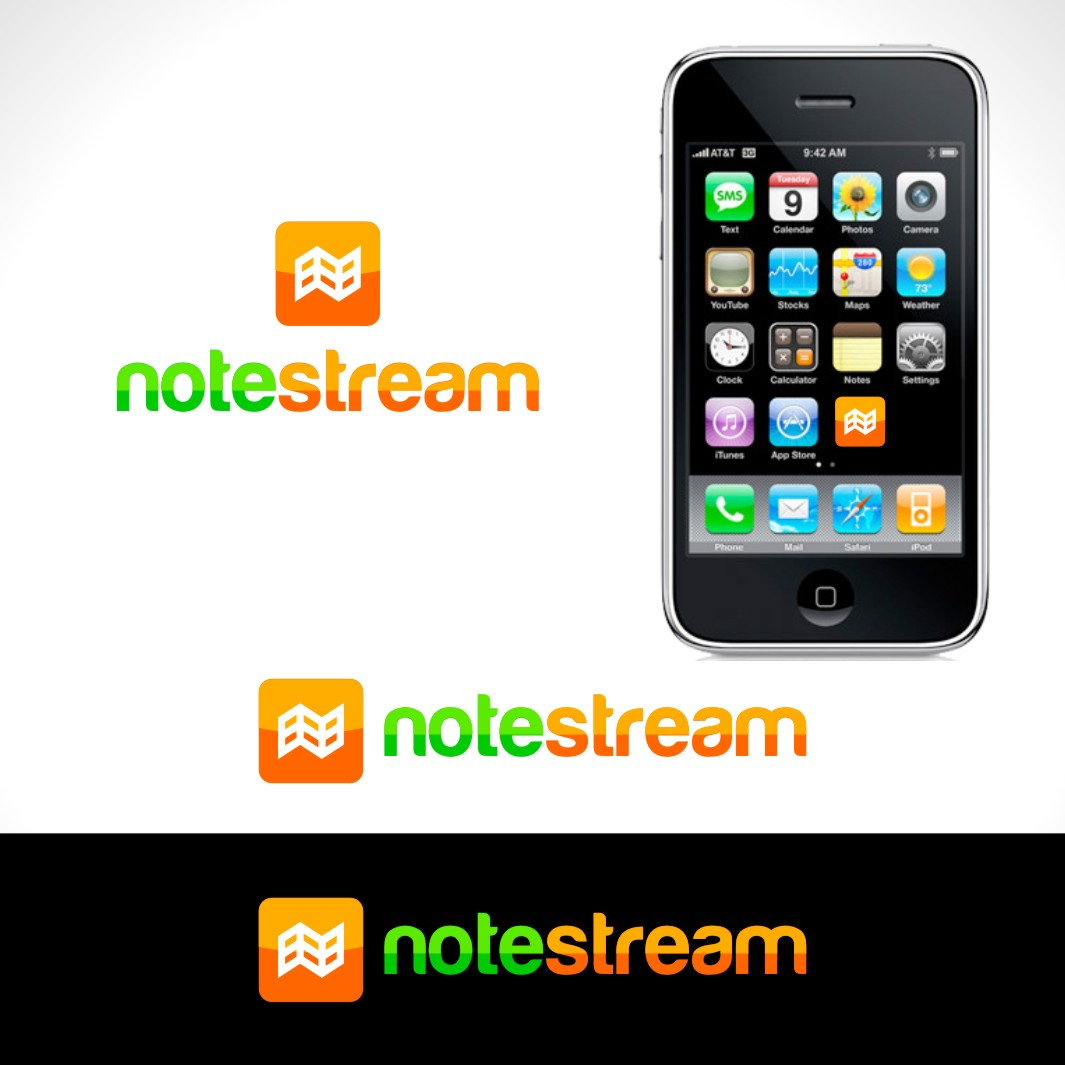Logo Design by Private User - Entry No. 118 in the Logo Design Contest Imaginative Logo Design for NoteStream.