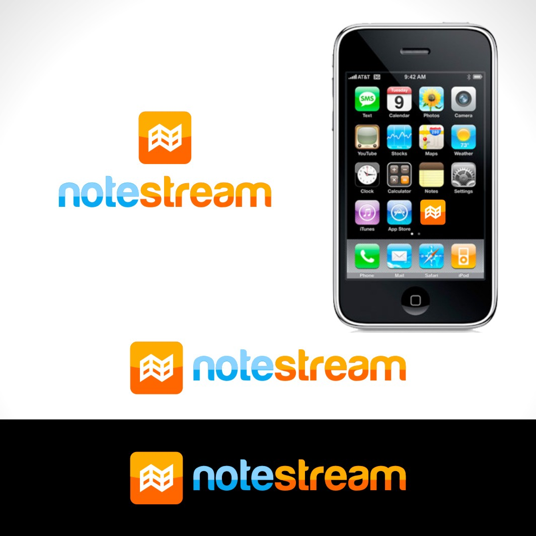 Logo Design by Private User - Entry No. 119 in the Logo Design Contest Imaginative Logo Design for NoteStream.
